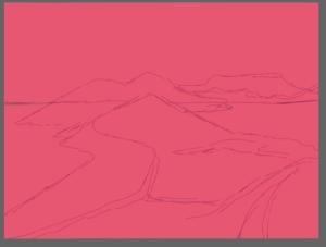 Quick line sketch